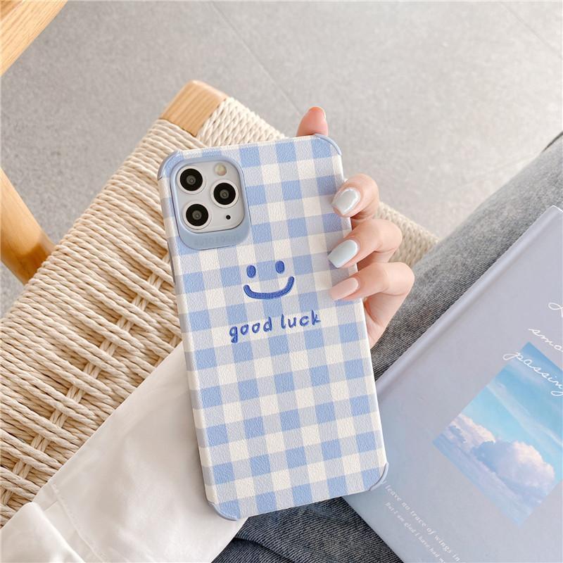 اي فون 11 حالة الشبكة مبتسم حالة الكورية الهاتف آيفون ماكس XR X إكسس ماكس SE 2020 7 8 زائد حالات لينة غطاء سيليكون