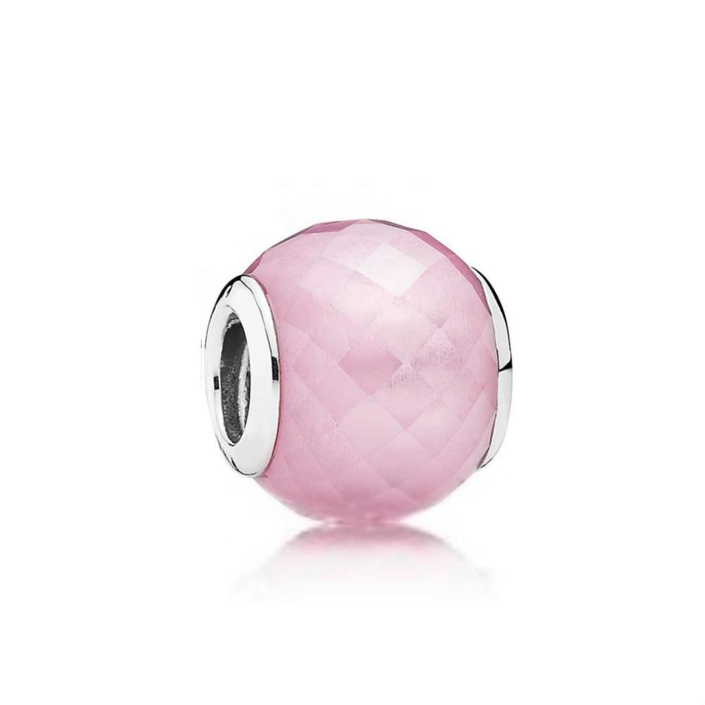 NUOVO 100% Sterling Silver 1: monili delle donne di nozze di vetro di cristallo di fascino originale tallone di moda Glamour 1 791722NBS Rosa 2018 regalo