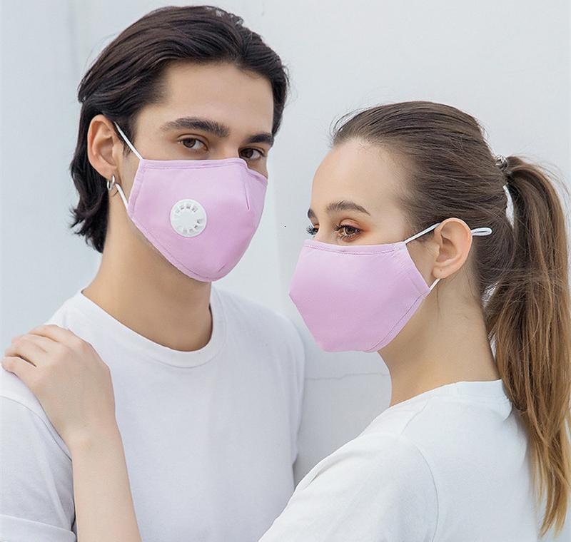 Valve Женщины маска моющийся дыхательными лицо с дышащий хлопок Мужчины и пылезащитные Маски многоразовые Велоспорт Мода Защитный 2 Best_d Zxcnub