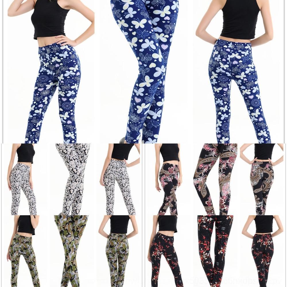 zAQkl 8254 borboleta super-nova cor calças apertadas apertado borboleta macia leggings de impressão moda emagrecimento calças até os tornozelos