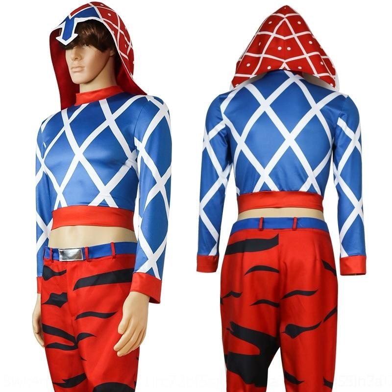 Ilgvs 2DYp6 le vent d'aventure merveilleuse aventure de JOJO de coswear hommes merveilleux cosplay manga et costume minstar costume c des femmes