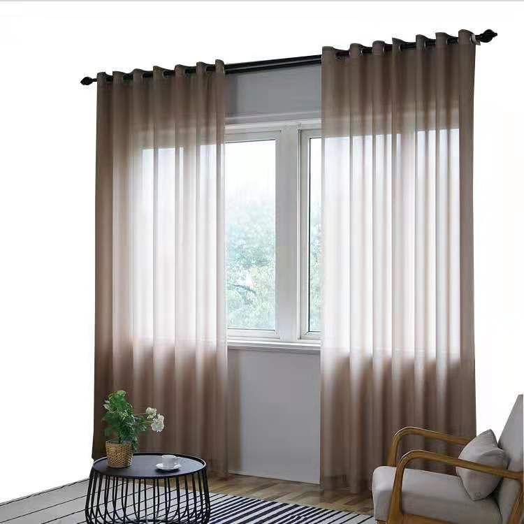 2 pcs cortina de chenilla pantalla de la ventana transparente tela de invitados comedor cortina de pantalla de onda partición dormitorio