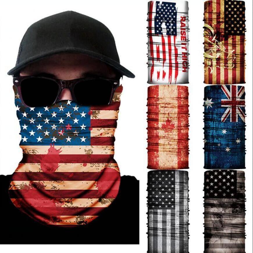 Bandera 3D sin fisuras bufanda mágica al aire libre del cuello Mascarilla pesca deportiva Ciclismo Caza Senderismo Bandana Máscaras tubo de la bufanda OOA7821