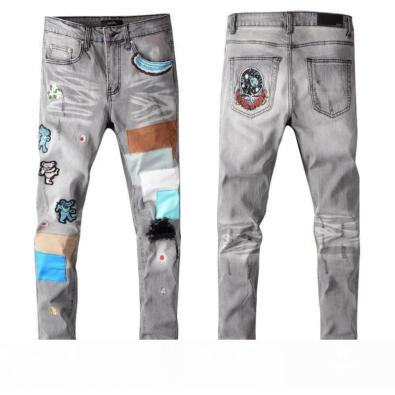 Automne Nouveau solide style classique Designer Hommes Jeans Slim FitDenny Tissu Multiple Wash Mens Fashion élastique Top Pantalon qualité Taille US 29-40