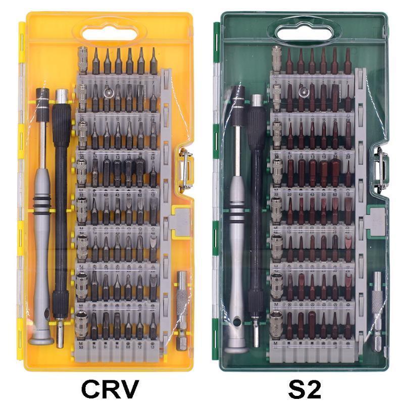С короткими Бит 60 в 1 прецизионных магнитных Комбинированные отвертки Kit с розничным пакетом для электроники Ремонт 60set / много