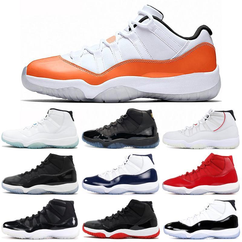 Yeni Basketbol Ayakkabıları 11 11s Yılan Derisi Kap ve Kıyafeti Concord Platin Tonu Bred Uzay Reçeli Kadın Erkek Trainer Açık Spor Sneakes Erkek Ayakkabı