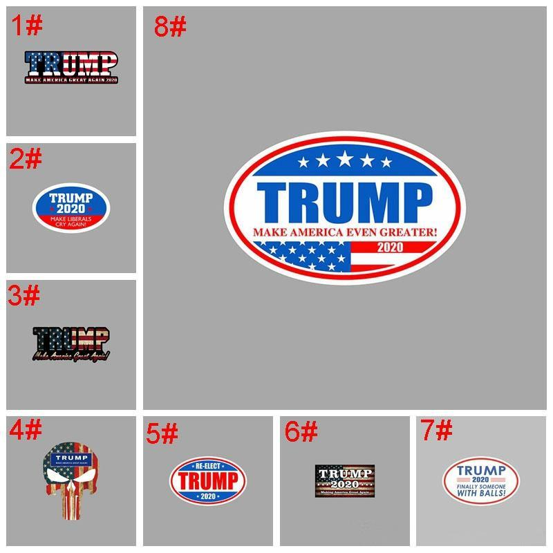 Trump auto autoadesivi riflettenti rendere l'America Great Again 2020 Trump Adesivi Donald Trump Car Banner Sticker all'aperto Gadget DHD389