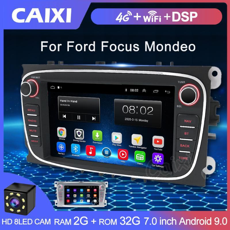 2 Din Radio Android 9.0 2GB Car Multimedia Video Player Navigation GPS DVD 2 din For Focus S-Max Mondeo 9 Galaxy C-Max car dvd