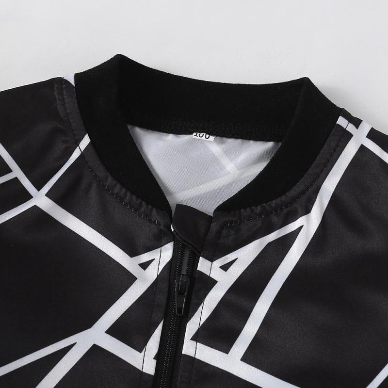 Printemps et Automnes bébé vêtement imprimé géométrique Casual manches longues Sweat pour enfants Manteaux