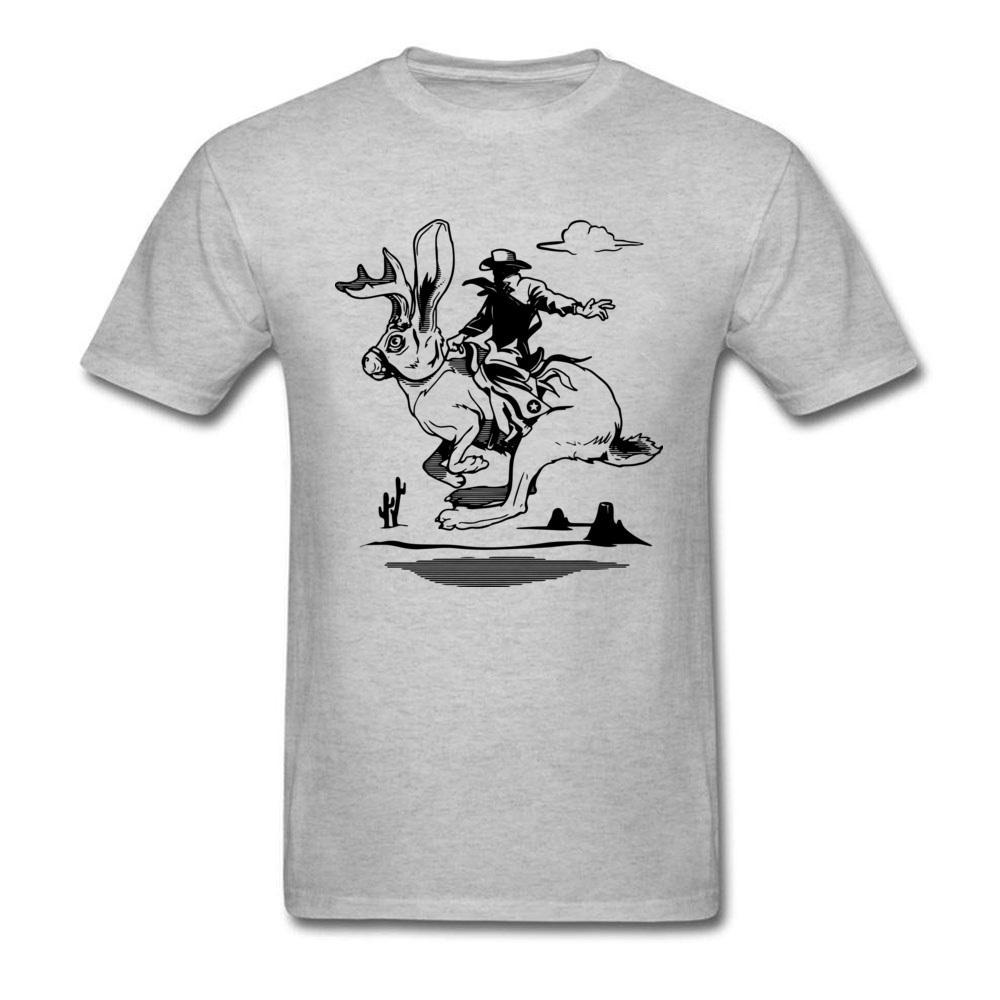 Homens New Arrival estilo simples Tops Collar Tees Rodada Dia do Pai 100% algodão Top T-shirt Imprimir Jackalope engraçado Tops Tees