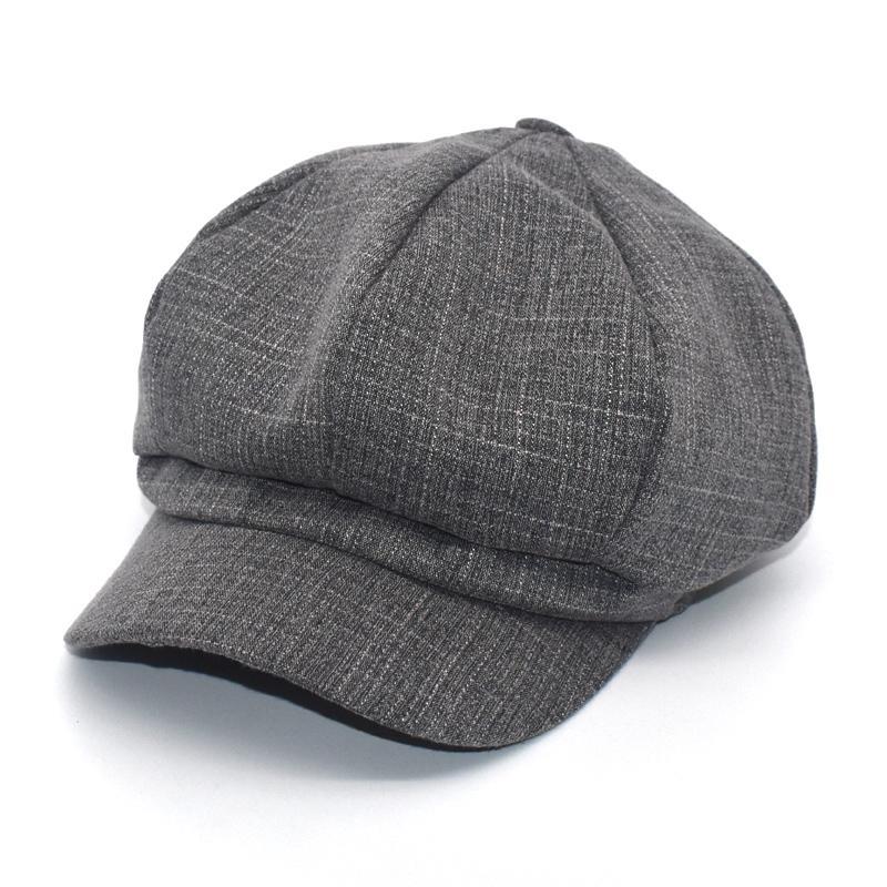 Cappelli da corn avaro inverno signore colore solido con cappuccio ottagonale con cappuccio da uomo e donna Berretti di lana casual pittori C8