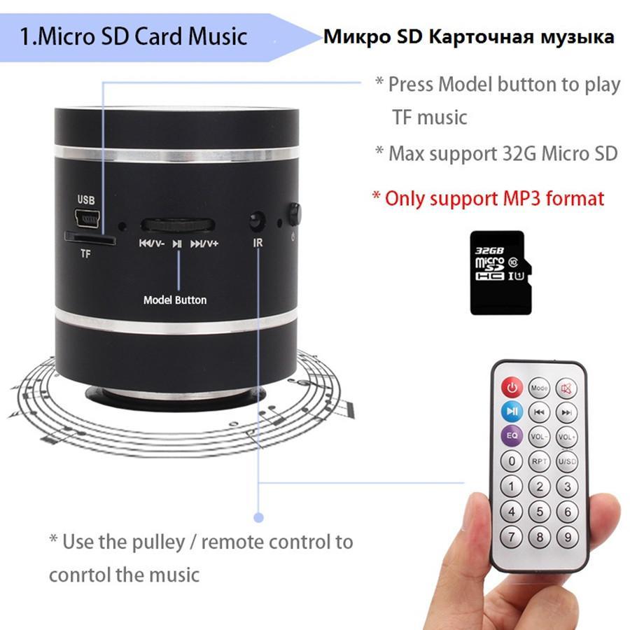 FreeShipping Bluetooth Vibration Speaker Remote Control Portable FM Radio Wireless Speaker 20w Column Bass computer speakers for phone