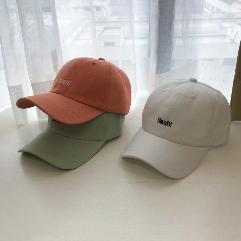 nova moda moda coreana de J0wm3 Hat Mulheres pico estudante casal ao ar livre sol proteção do sol chapéu boné de beisebol Boné de beisebol Apontado para homens