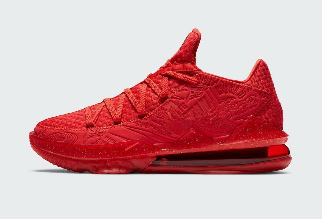 LeBrons الجديد 17 الأحذية جامعة منخفضة الأحمر للبيع مع صندوق أفضل من الرجال والنساء الأحذية معدني الذهب كرة السلة تخزين US7-US12