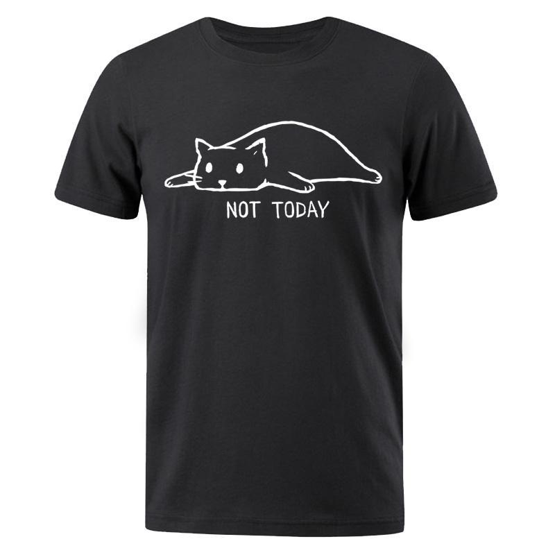 2019 Summer Fashion Not Today T-shirt pigro gatto Uomo T Shirts Sportswear T-shirt maschile Hip Hop maglietta divertente cotone SUPERA IL T