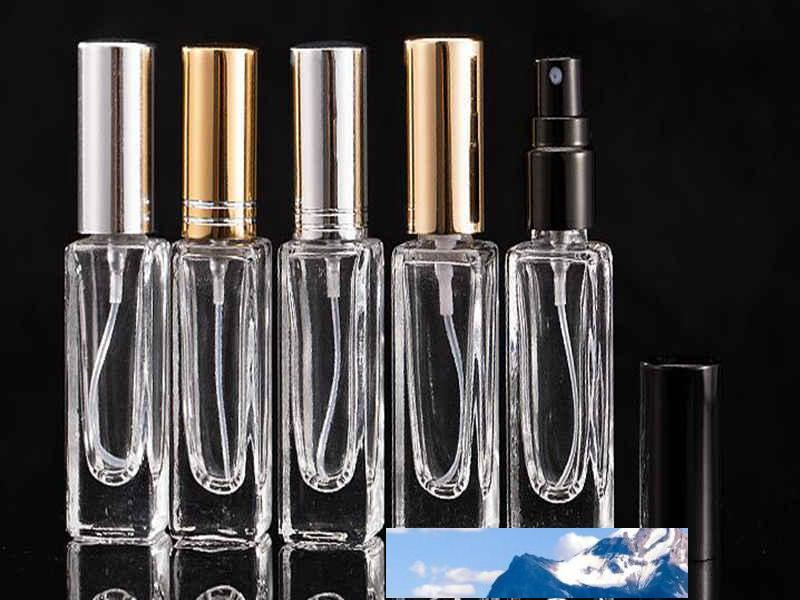 7ml 정사각형 메이크업 투명 유리 병 에센셜 오일 향수 프레스 하위 미스트 스프레이 공장 가격 전문가 디자인 품질 최근 스타일 원래 상태