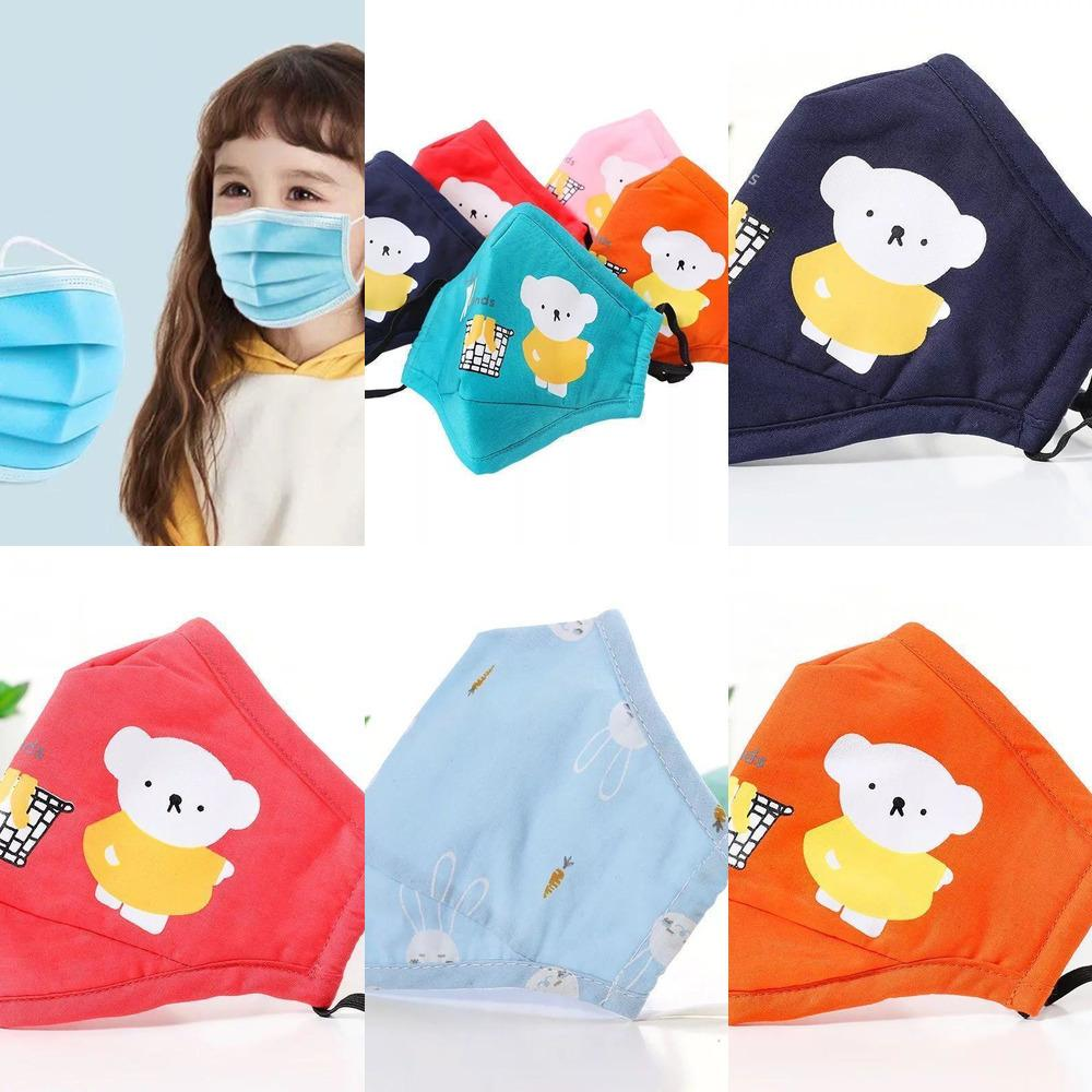 Filtro pura Mascarilla algodón Válvula de ventilación reutilizable lavable Hijos Adultos prueba de polvo Smo Sqaj