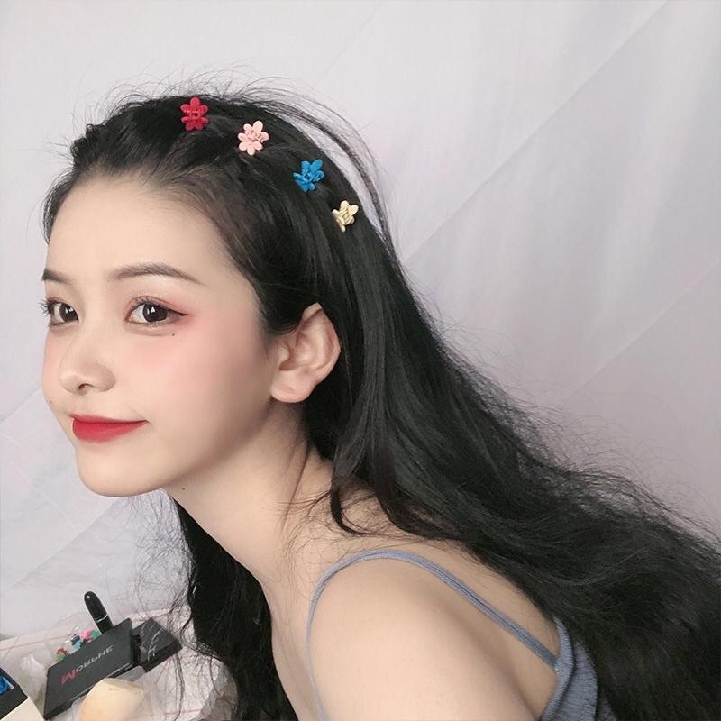 Ickes Stile elegante ins Candy tornante colore della caramella lato piccolo fiore coreano celebrità Internet clip colore della forcella della clip femminile