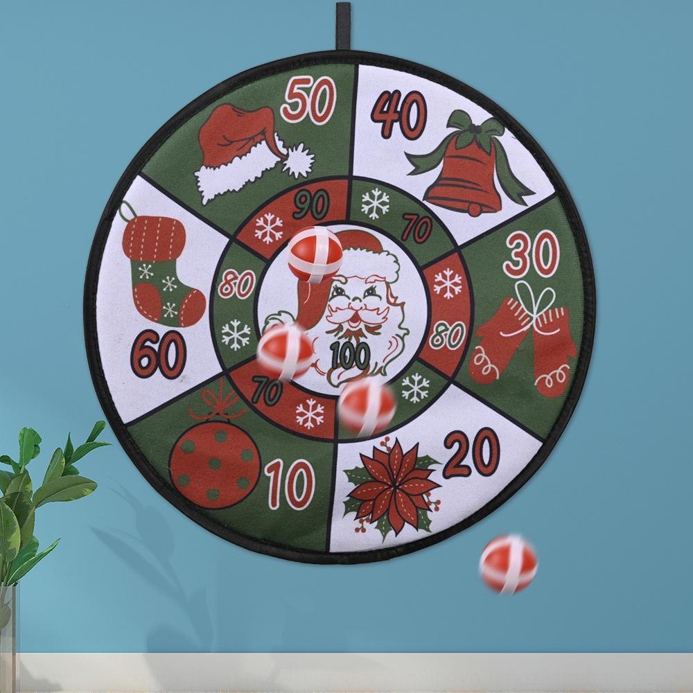 Yeni kutlama Hediye Dekoratif Ürünler yaratıcı dart tahtası Noel Baba çelenk atış plakası çocuk Noel hediyesi y7M1y