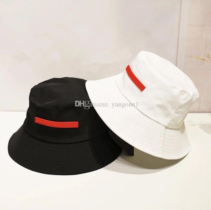 Hohe Qualität Tuch Gemischte Kontrastfarbe Buchstaben Eimer Hut Mode Falten Fachkappen Schwarz Fischer Strand Sonnenvisier Faltkappe