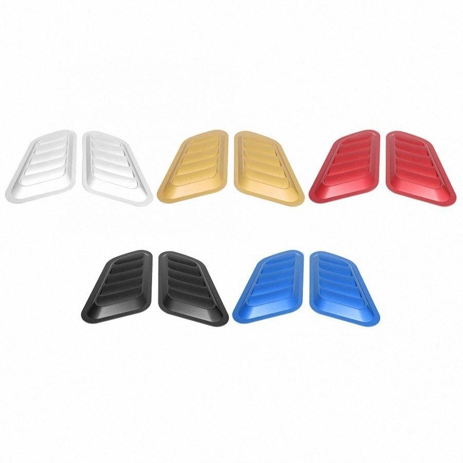 Interior Mouldings Car Sticker ABS Decorative Air Flow Intake Bonnet Vent Hood Cover Car Styling o095#