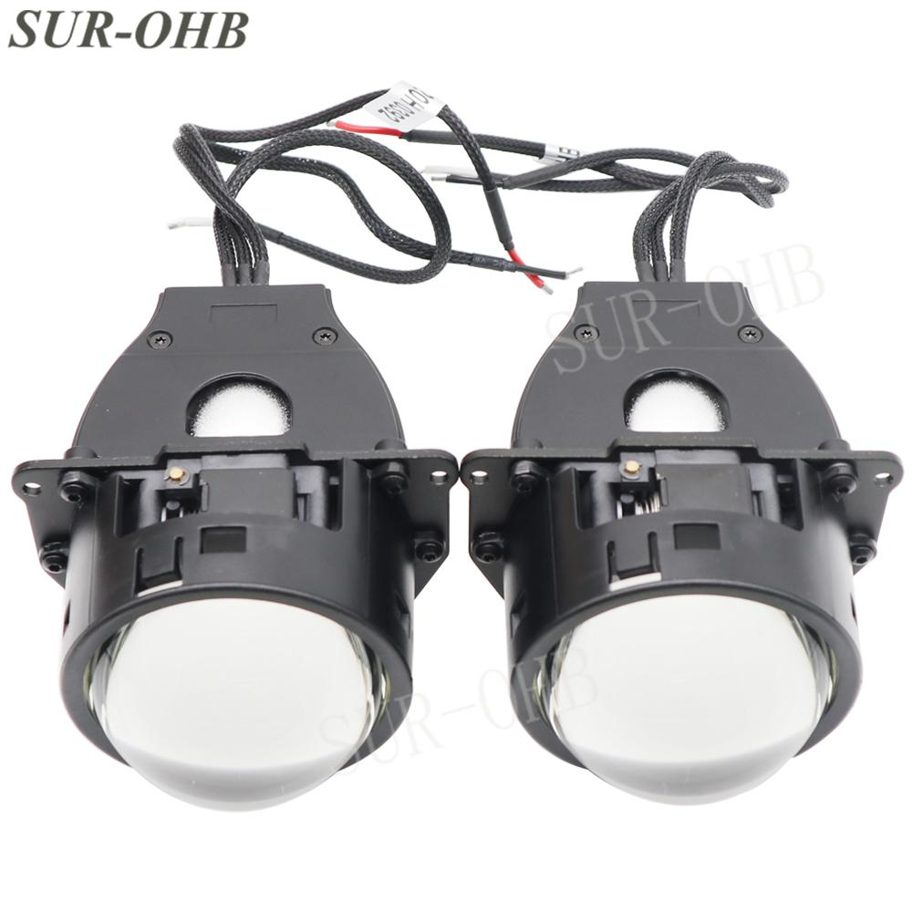 KY20H0004 Styling 3.0 pollici Auto fari Retrofit luminoso veloce con alta anabbaglianti LED universale lente moto auto Fari retrofitKY