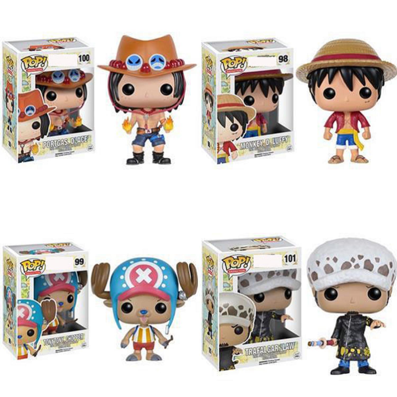 Anime One Piece Figura Conjunto de Luffy Nami Marinha Rei PVC estatueta modelo Brinquedos para presente das crianças