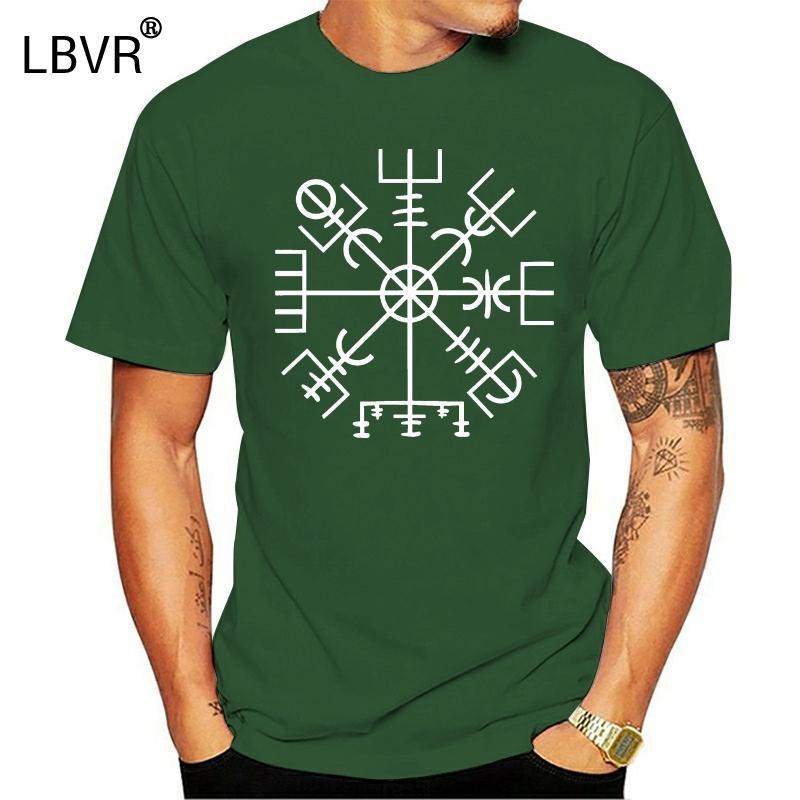 Vegvisir Viking Compass Symbole T-shirt Viking vieux norrois hommes Scandinavie Métal manches courtes Nouveau mode T-shirt Vêtements pour hommes