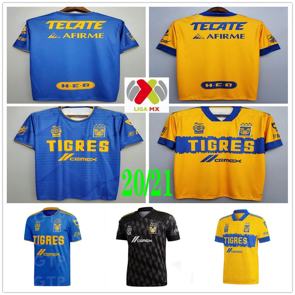2020 2021 MX League Football Club 7 Stars Tigres UANL Soccer Jerseys GIGNAC GUERRON SOBIS DUENAS Custom Adult Kids Woman Men Football Shirt