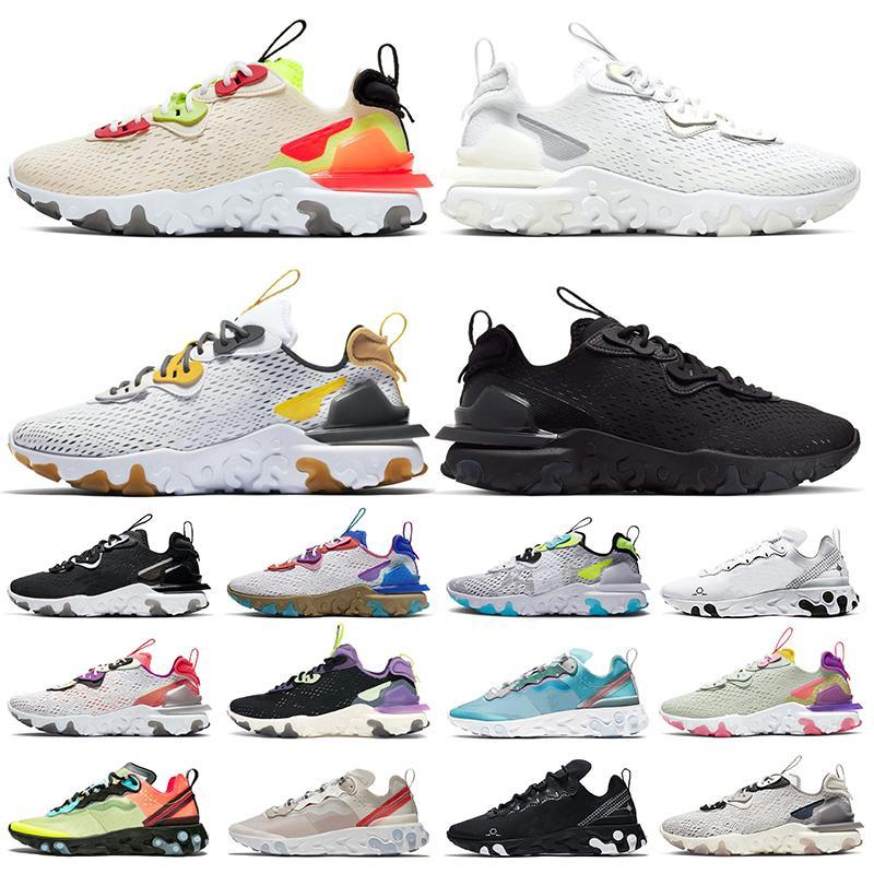 Nike React Vision Air Epic React Element 55 Hot Fashion Stock x Femmes Hommes Chaussures de course Photon Dust Noir Blanc Irisé Hommes Baskets Baskets