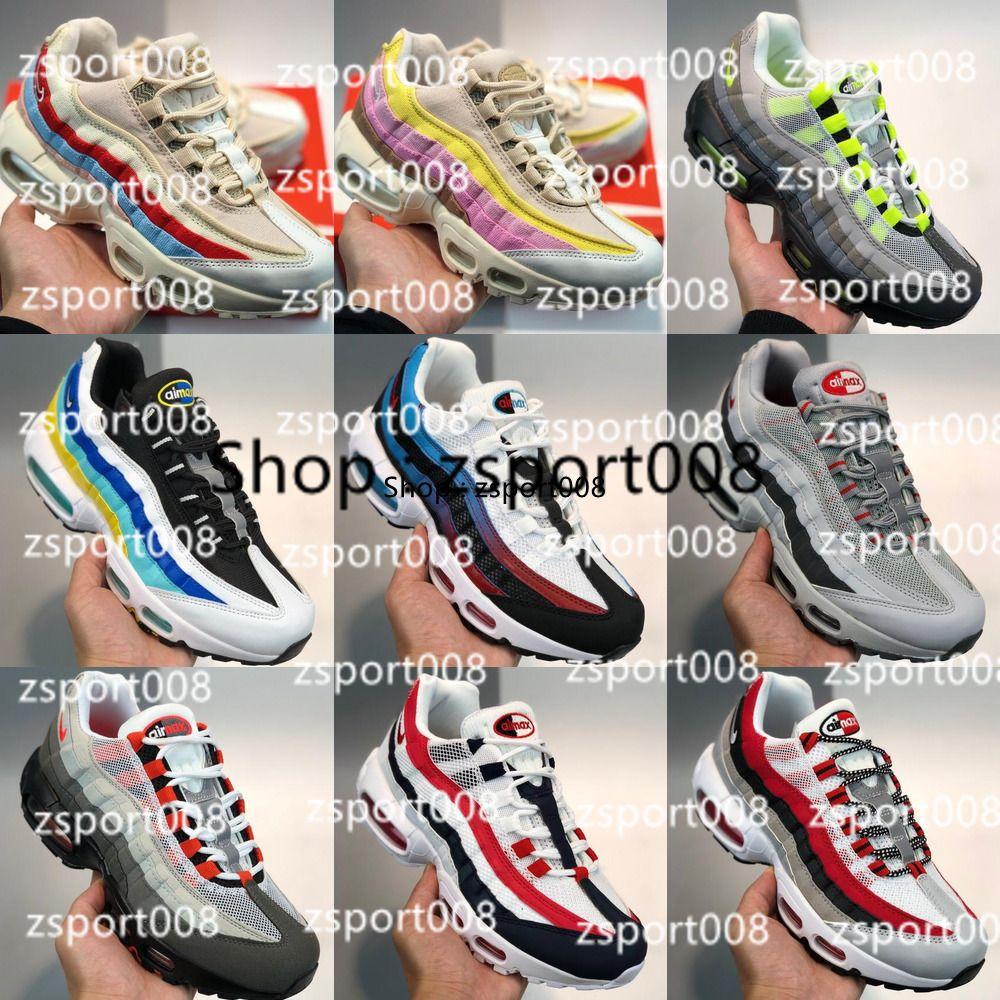 95 2020 من الرجال والنساء 95S OG NEON PRM ESSENTIA AH8444-109 أحذية الهواء PRNT الأساسية سحب تبويب حزمة الرياضية لكرة السلة أولي AQ4139-101 001