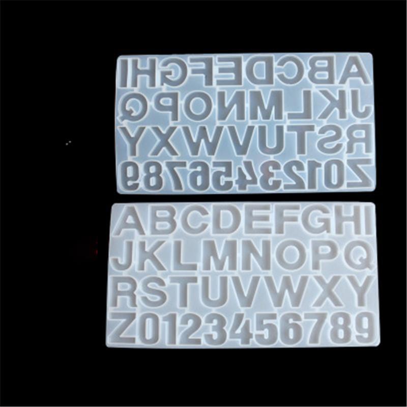 편지 편지 금형 알파벳 번호 실리콘 형 번호 알파벳 보석 키 체인 주조 금형에 대한 작은 DIY 실리콘 수지 금형