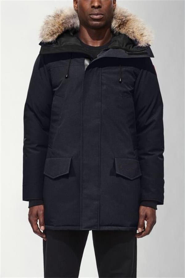 Abrigos de invierno para hombre chaquetas Veste Homme invierno al aire libre Jassen grande de piel con capucha Fourrure Manteau abajo chaqueta de la capa Hiver Parka Doudoune