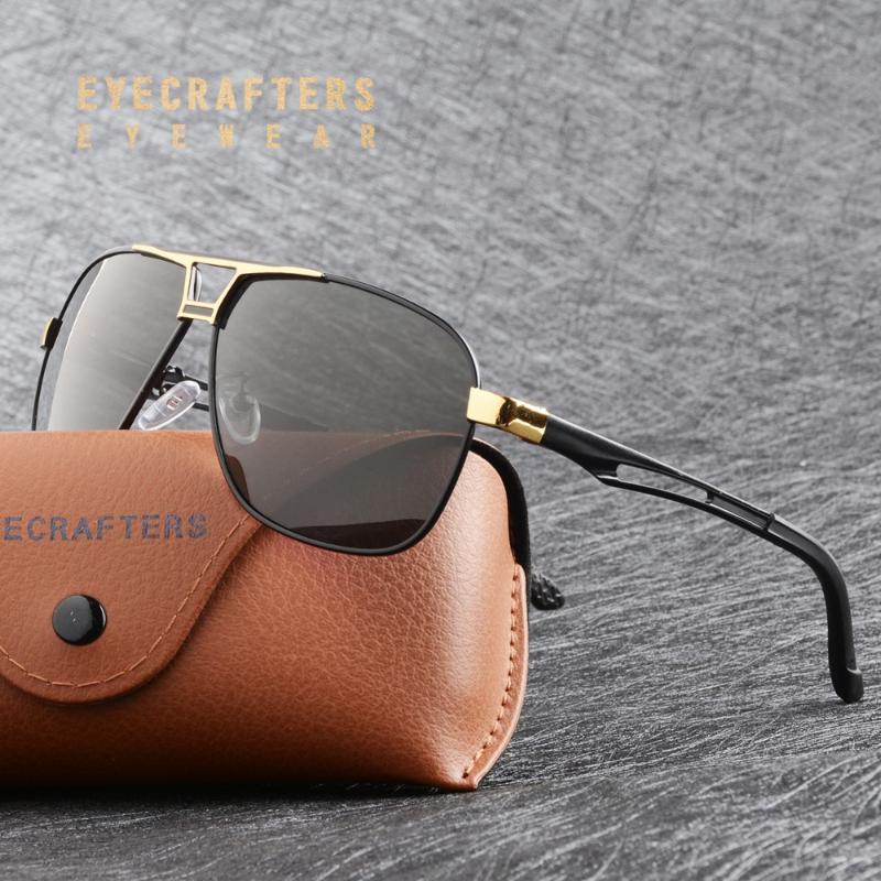 Conducir Classic Fishing Brand Sun Gafas de sol HD HD Piloto Piloto Vidrios polarizados de lujo Vidrios de aluminio Hombres UV400 MKBLE