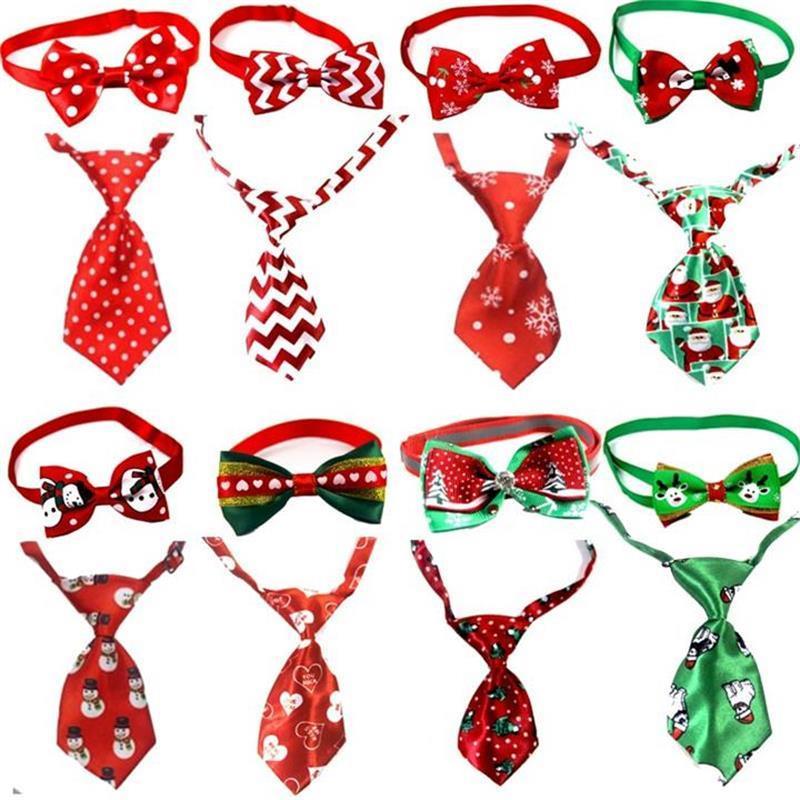 Accessori per la casa natale del cane di animale Cravatte Capodanno Legami registrabili Handmade Dog Pet legami Set Festival Cravatte accessori del cane