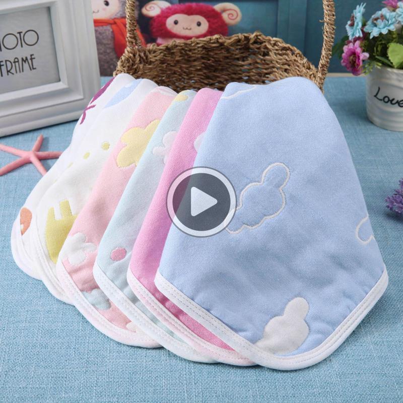 Bebek Havlu Sqre Yumuşak Emici Mendil Bebek Tükürük Havlu Bebek Erkekler Kızlar Fa Yıkama Havlu