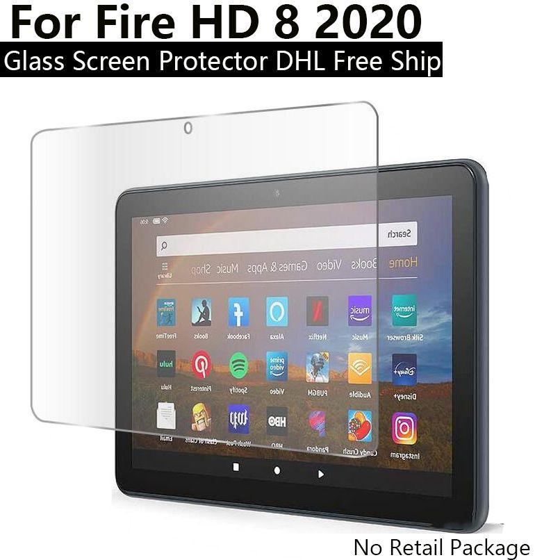 아마존은 킨들의 화재에 대한 9H 안티 지문 강화 유리 HD 8 2020 / 소방 HD 8 플러스 유리 화면 보호기