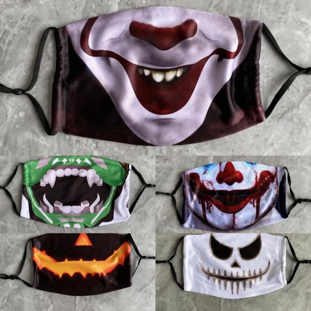 askGt Strega Zombie Maschera di Halloween Party Masque Hallowmasrade Grudge Clown lattice gomma di silicone Santo Viso Masque di copertura Teschio Nero Sadako