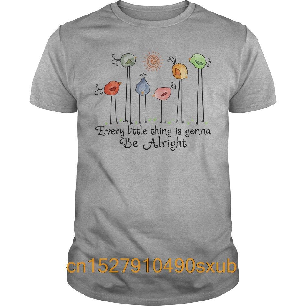 Летняя мода Мужская футболка хлопок мужская с коротким рукавом футболки Every Little Thing Is Gonna Be Alright рубашка