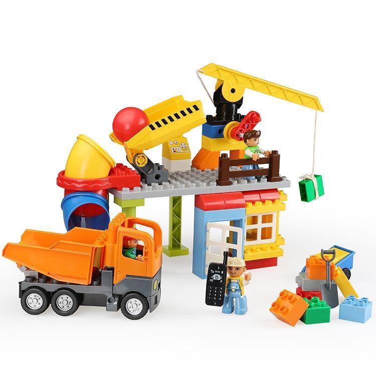 Transporte Big Crianças Brinquedos Construção Tijolos bebê bloco crianças com a construção do veículo Local Compatível Tamanho Para Gift Set Duploe yxlxAP tophw