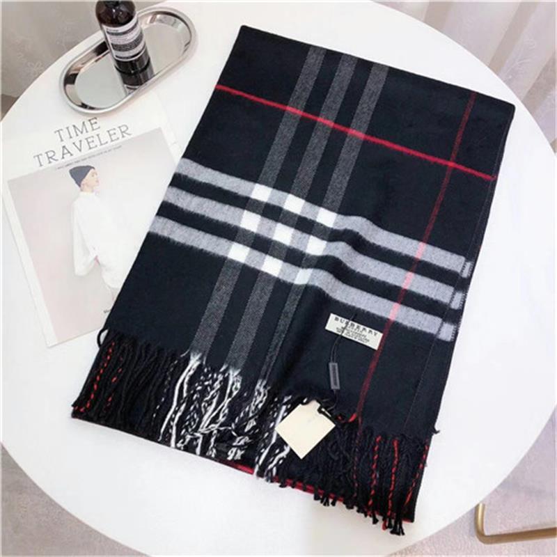 100% de la marca bufanda de cachemira impreso a cuadros de cachemira bufanda de grado superior bufanda de cachemir para los hombres y las mujeres 180 * 70cm