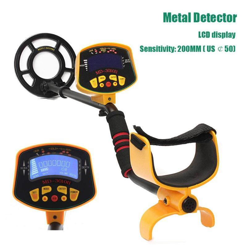 MD-3010II Metal Detector Portable Underground Silver Gold Digger Fully Automatic Light Deep Sensitive LCD Display Tools