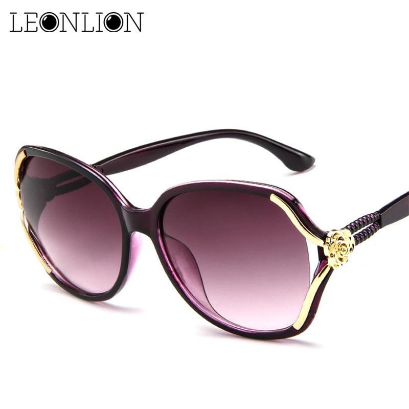 LeonLion 2020 Blumen-Sonnenbrille-Frauen-Steigungs-klassische Weinlese-Damen Maxi-Sonnenbrillen UV400 Gläser Feminino