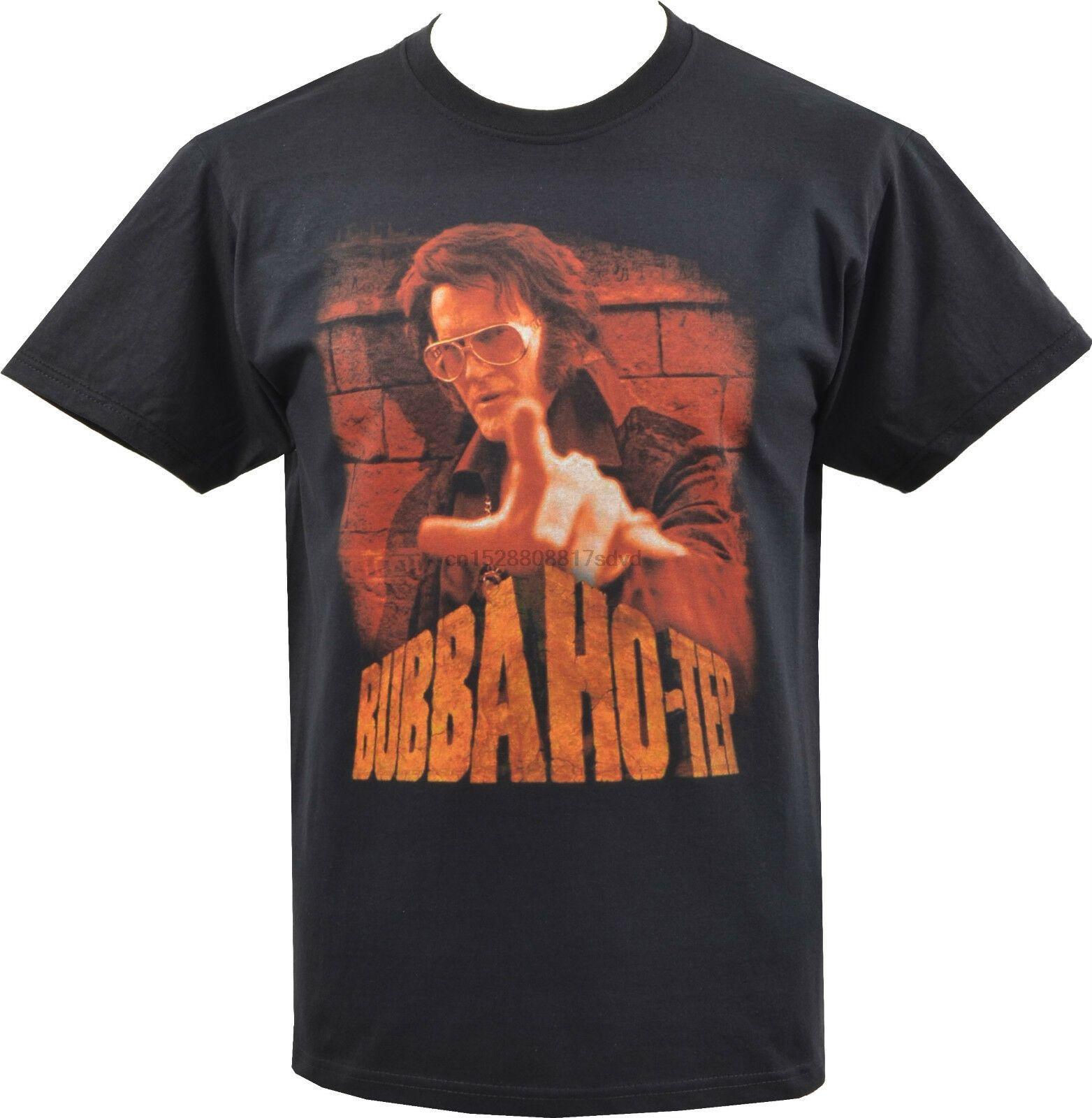 Preto dos homens T-shirt Bubba Ho-TEP MUMMY comédia de horror FILM ELVIS PRESLEY JFK manga curta Hip Hop Tee T Shirt top tee