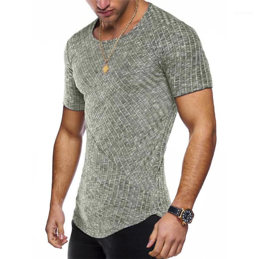Повседневный короткий дизайнер T натуральный экипаж мужской одежды мужская мужская футболка рубашка рубашка асимметричная шея Tees Cudrd