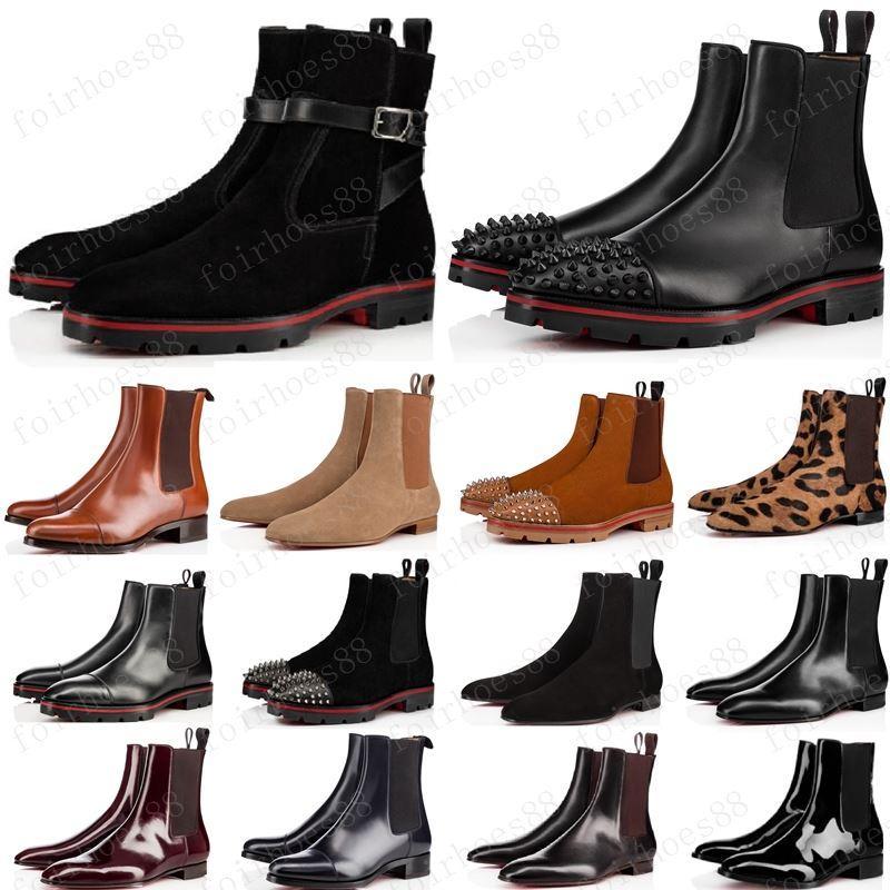 nuevo estilo inferiores del rojo zapatilla de deporte de los hombres de los picos de arranque de gamuza de cuero rojo zapatos de los únicos hombres súper perfecta melón motocicleta botín para los hombres