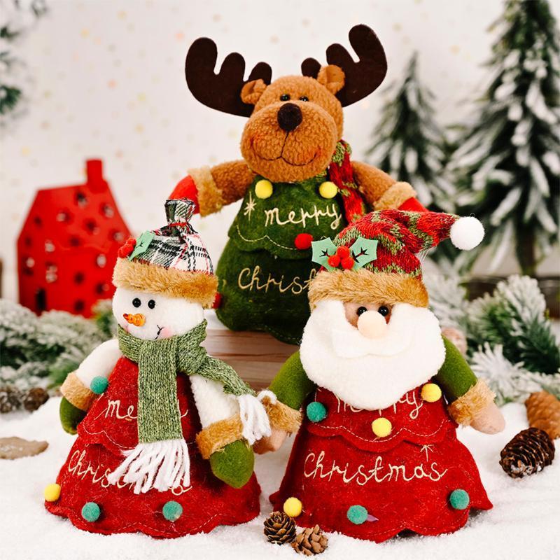 Weihnachten Apple-Candy Bag Weihnachts Cluas Snowman Navidad 2020 Weihnachtsschmuck für Home Geschenkaufbewahrung