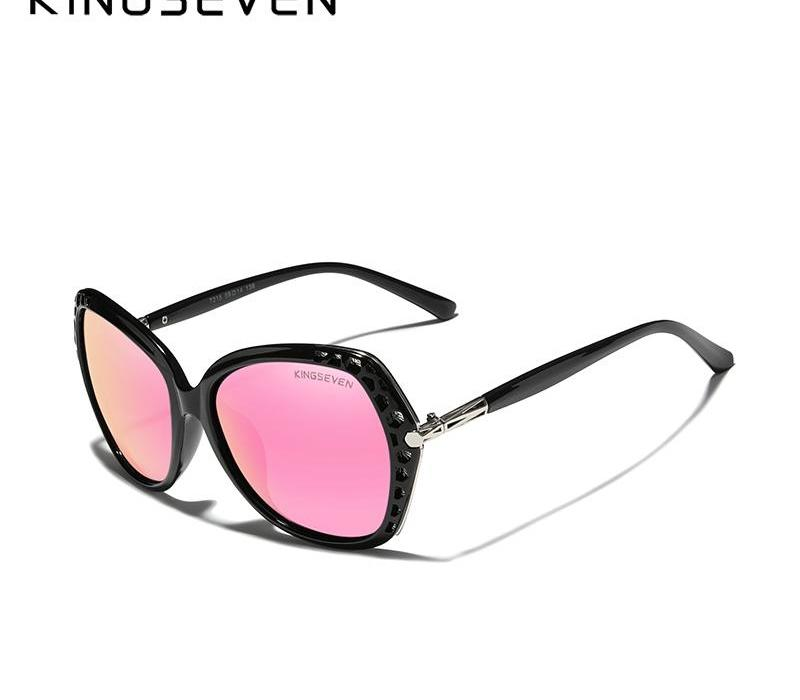 KINGSEVEN 2020 Elégante jeune femme de lunettes de soleil polarisées dégradé Objectif Miroir Lunettes papillon Style98