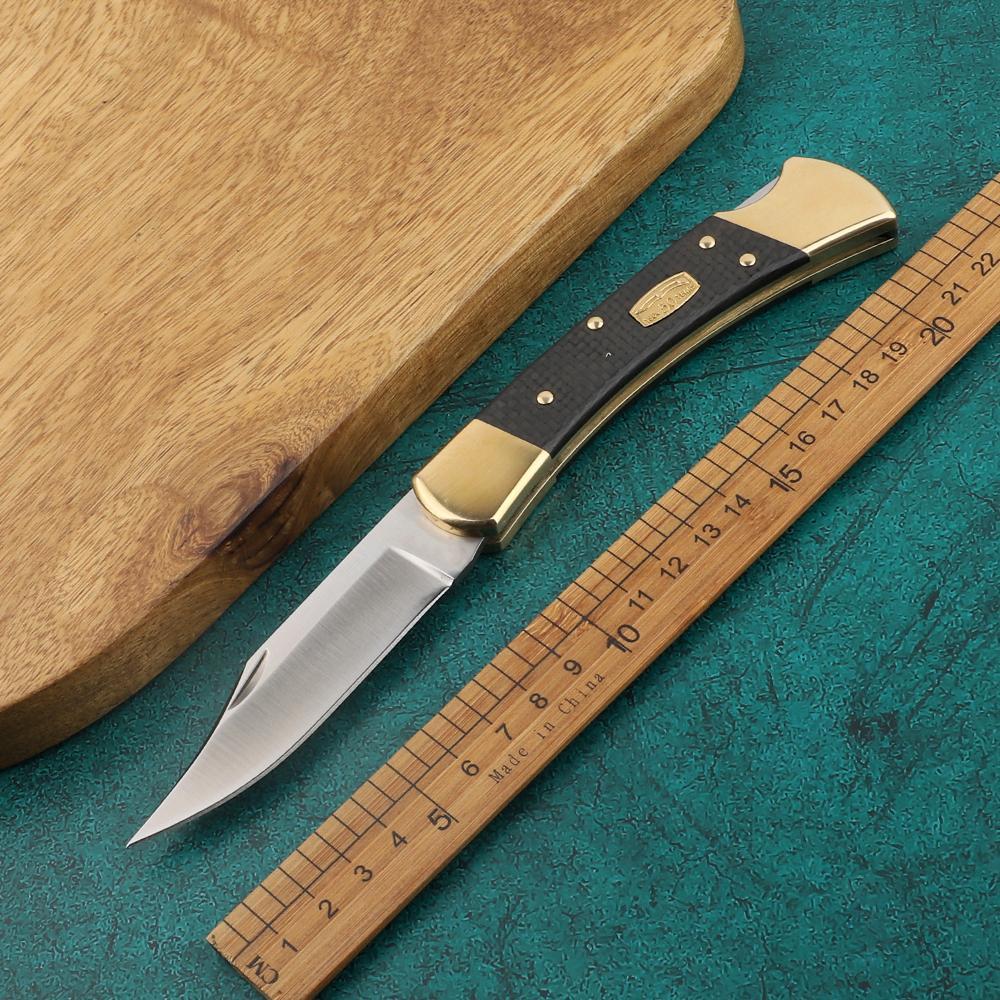 110 50 Aniversario 110BRS-50 M390 lámina de fibra de carbono táctica de autodefensa plegable del EDC del bolsillo del cuchillo del cuchillo que acampa cuchillo de caza a3092