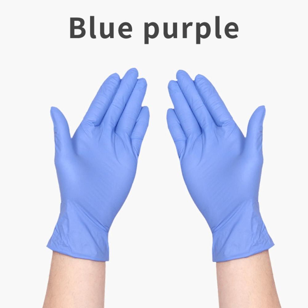 Gants en nitrile Mitten Violet Gants Protection Bleu environnement durable en caoutchouc Glo Y6ch